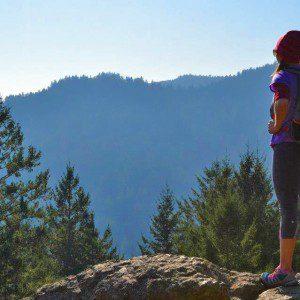Runner views mountains surrounding Sonoma Valley
