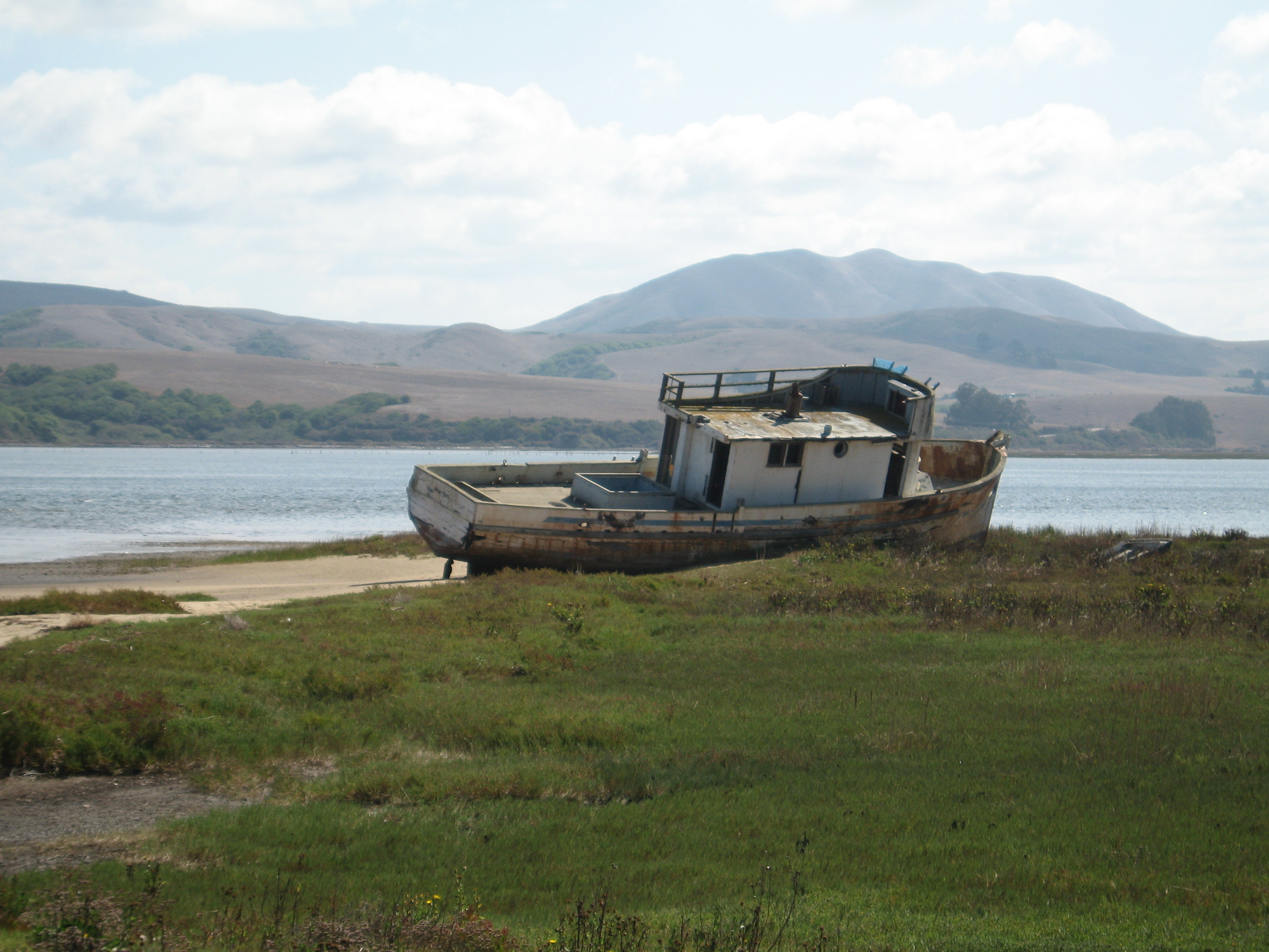 Old abandoned boat in Inverness on Tomales Bay