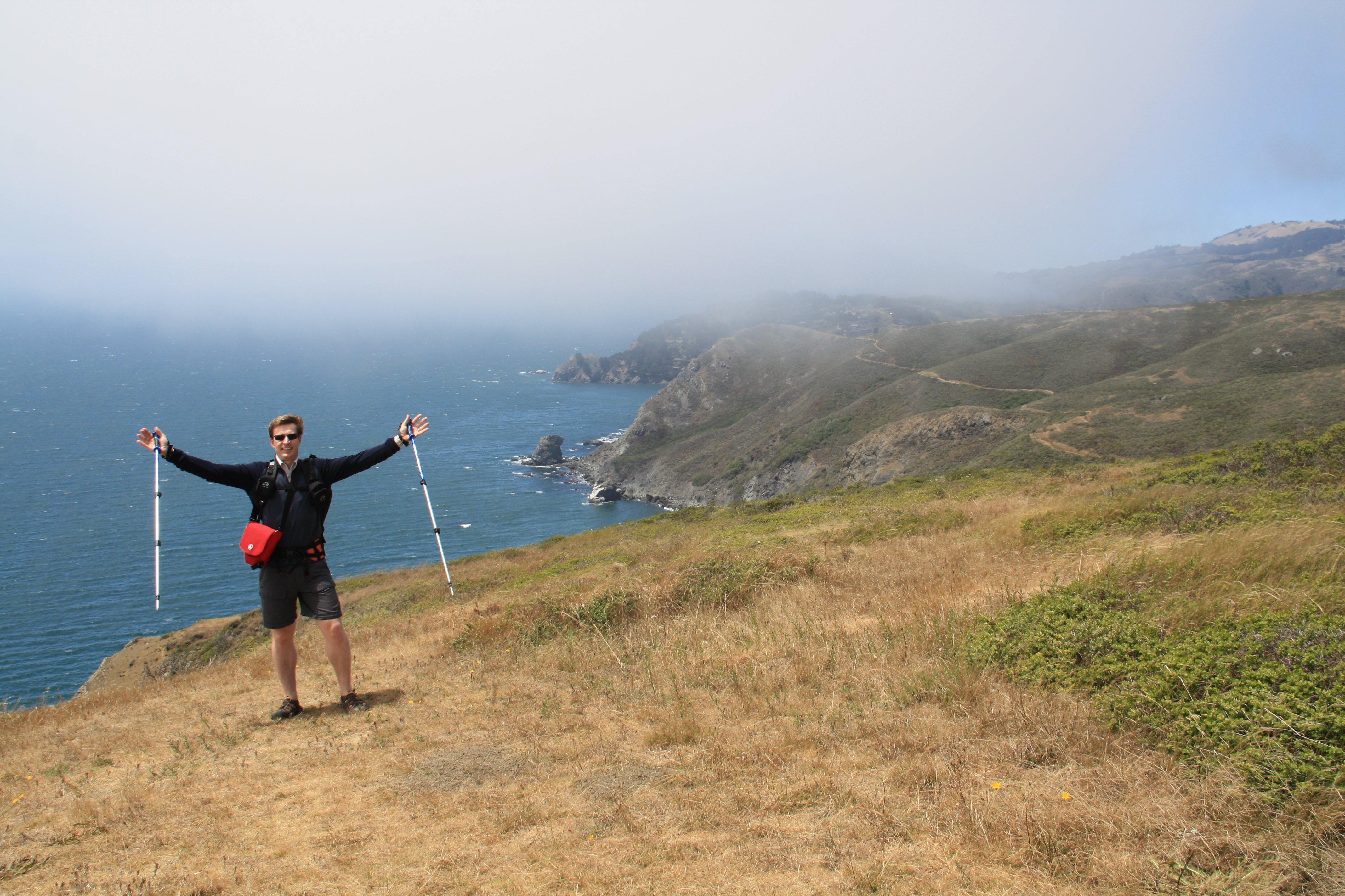 A Wine Country Trekker on the Coastal Trail between Sausalito and Muir Beach