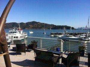 A view of San Francisco Bay from Sausalito