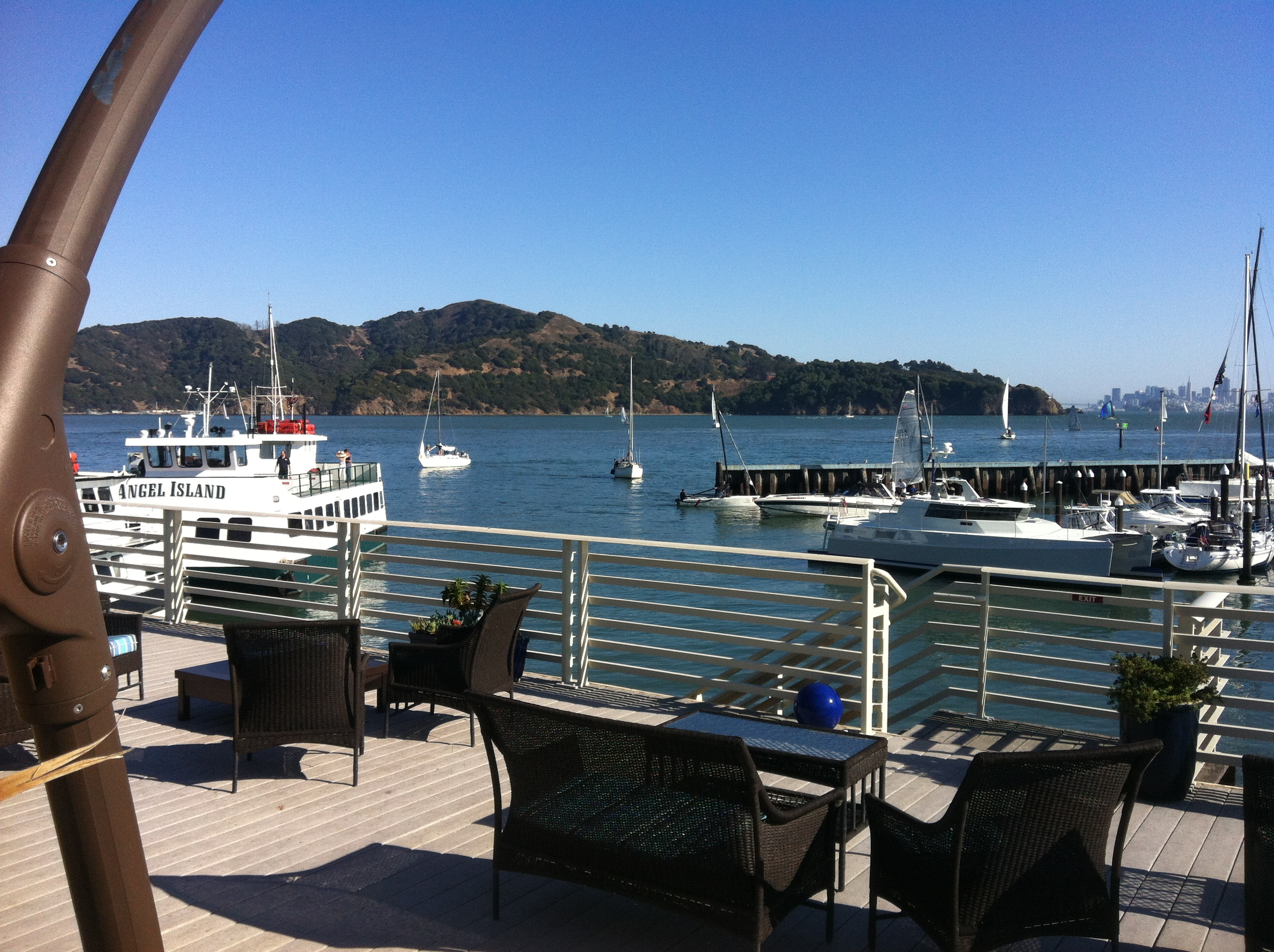 View of San Francisco bay from the Tiburon hotel